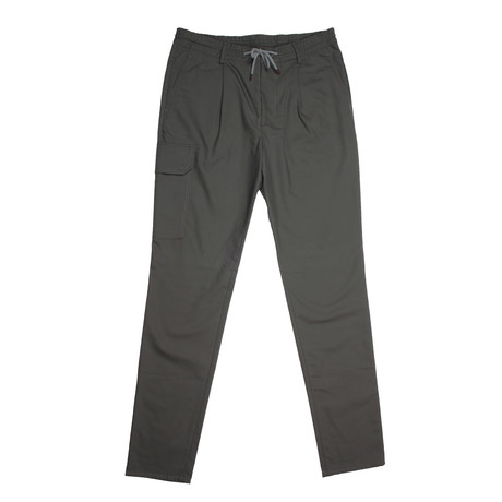 Wool Blend Casual Draw String Pants / Sage (28WX32L)