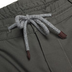 Wool Blend Casual Draw String Pants / Sage (40WX32L)