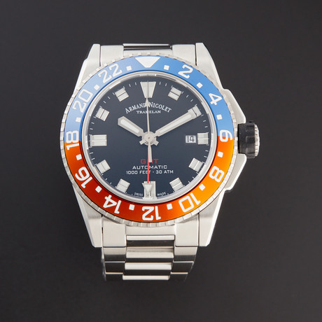 Armand Nicolet JS9 GMT Automatic // A486BGN-NR-MA4480AA // New