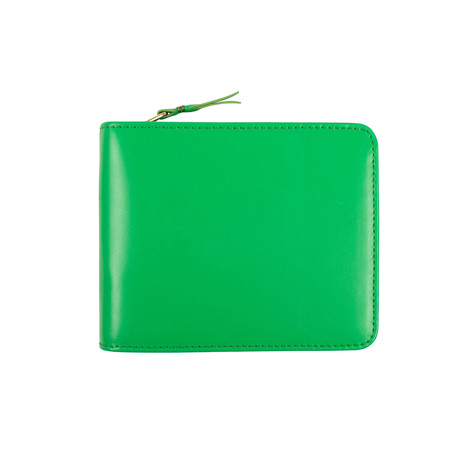 Leather Cardholder Zip Around Wallet // Green
