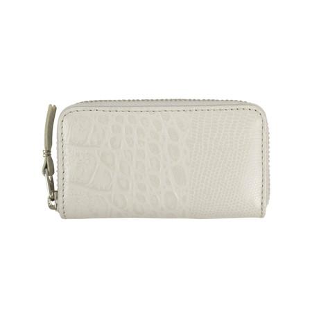 Comme Des Garçons // Animal Print Patchwork Mini Wallet Coin Purse // Gray