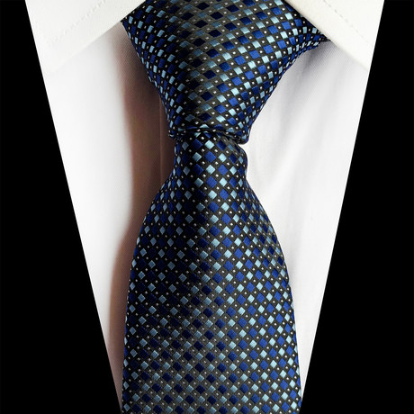 Handmade Silk Tie // Multicolor + Blue Fusion