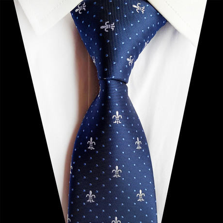 Handmade Silk Tie // Royal Blue Design