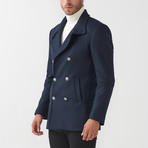 Daniel Wool Coat // Dark Blue (Euro: 48)