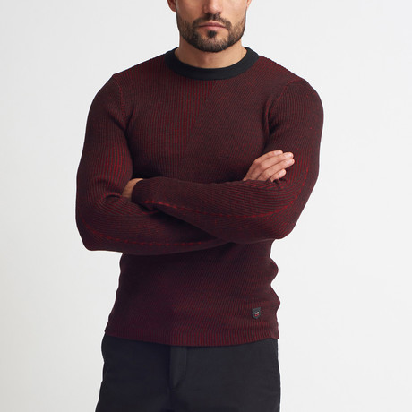 Andrew Crew Neck Sweater // Burgundy (S)