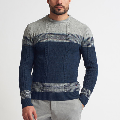Jeremy Crew Neck Sweater // Dark Blue (S)