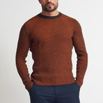 Andrew Crew Neck Sweater // Rust (XL)