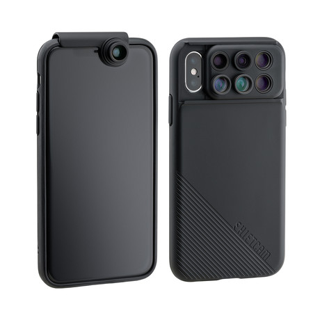 ShiftCam 2.0: 6-in-1 Travel Set with Front Facing Wide Angle Camera (iPhone X)