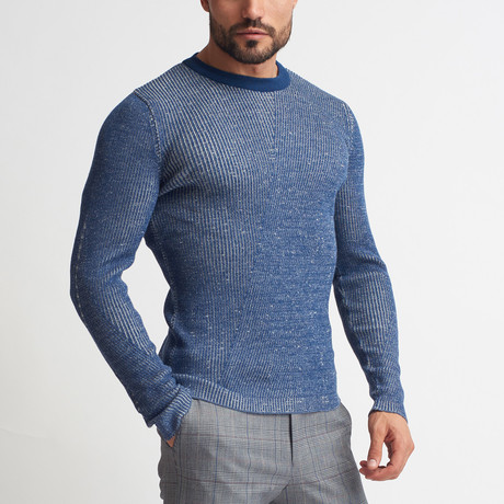 Andrew Crew Neck Sweater // Indigo (S)