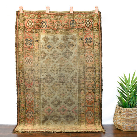 """Nomadic Rug // Hand Knotted Circa 1920 // 5'8""""L x 3'4""""W"""