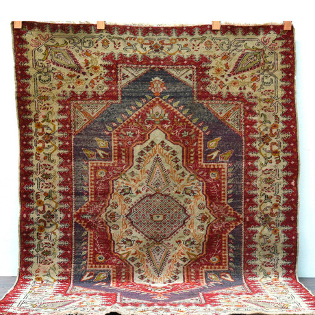 """Oushak Rug // Hand Knotted Circa 1920 // 6'6""""L x 4'7""""W"""