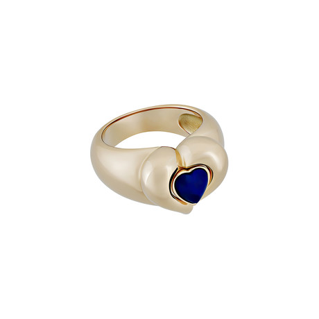 Vintage Van Cleef & Arpels 18k Yellow Gold Lapis Ring // Ring Size: 6