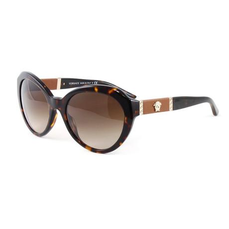 Versace // Women's VE4306Q Sunglasses // Havana