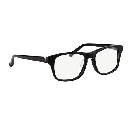 Unisex PL88C1OPT Optical Frames // Black + Silver