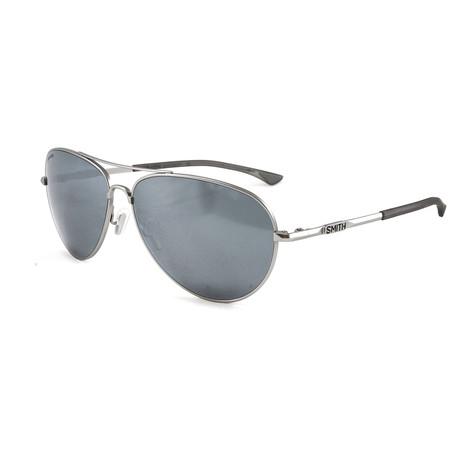Smith // Men's Polarized Audible Sunglasses // Matte Silver