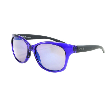 Smith // Women's Feature Sunglasses // Crystal Ultraviolet + Blue Flash Mirror