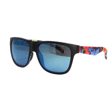 Smith // Men's Polarized Lowdown Sunglasses // Matte Black + Multicolor