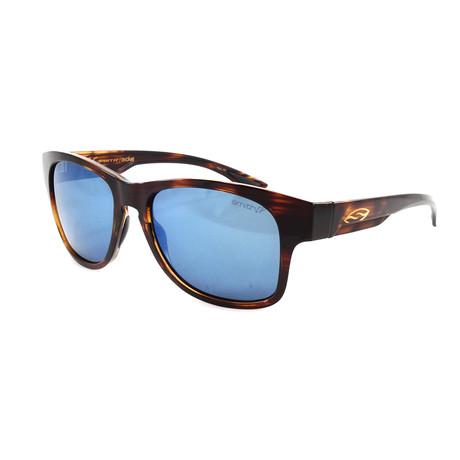 Smith // Men's Polarized Wayward Sunglasses // Havana + Blue