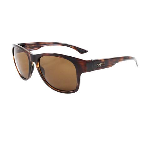 Smith // Men's Polarized Wayward Sunglasses // Havana + Brown
