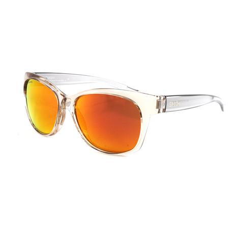 Smith // Women's Feature Sunglasses // Desert Crystal Smoke + Chromapop Sun Red Mirror