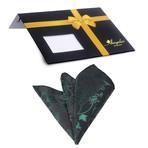 Silk Handkerchief + Gift Box // Green + Black Paisley