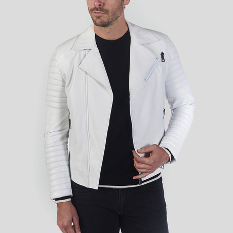 Jayce Leather Jacket // White (S)