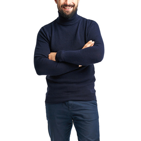 Wool Polo Neck // Navy (S)
