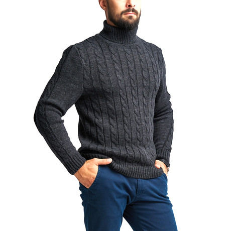 Wool Polo Neck // Dark Gray (S)