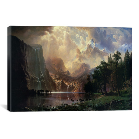 "Among Sierra Nevada In California // Albert Bierstadt (40""W x 26""H x 1.5""D)"