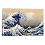 "The Great Wave at Kanagawa, 1829 // Katsushika Hokusai (18""W x 12""H x 0.75""D)"