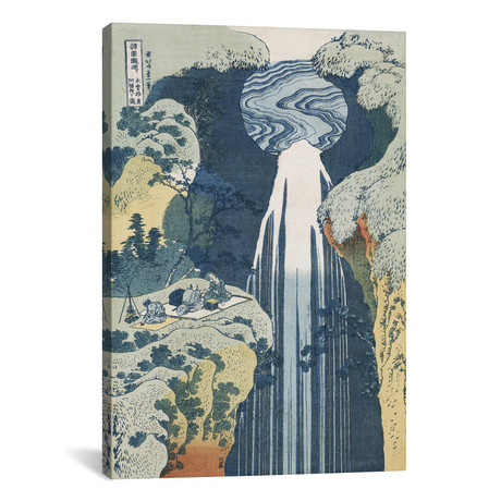 "Amida Waterfall on the Kiso Highway, from the series 'A Journey to the Waterfalls of all the Provinces'  // Katsushika Hokusai (12""W x 18""H x 0.75""D)"