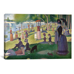 """Sunday Afternoon on the Island of La Grande Jatte // Georges Seurat (26""""W x 18""""H x 0.75""""D)"""