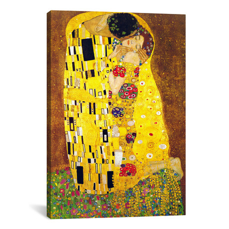 "The Kiss // Gustav Klimt (26""W x 40""H x 1.5""D)"