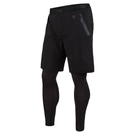 2-In-1 Shorts + Leggings // Black (XS)