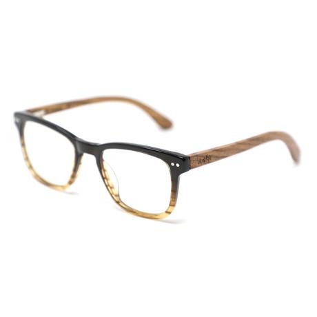 Brooks Blue Light Blocking Sunglasses // Black + Woodgrain