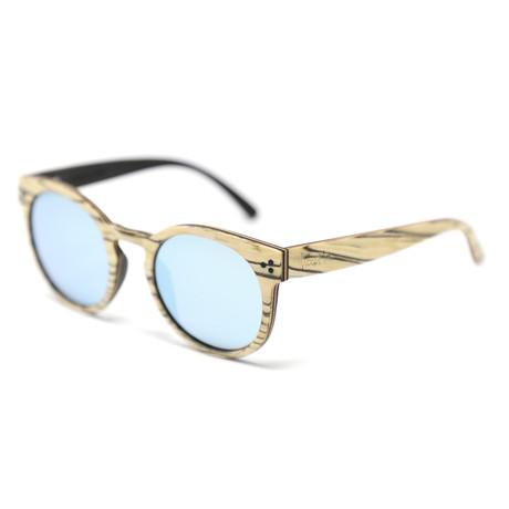 Joi 4.0 Polarized Sunglasses // White + Blue