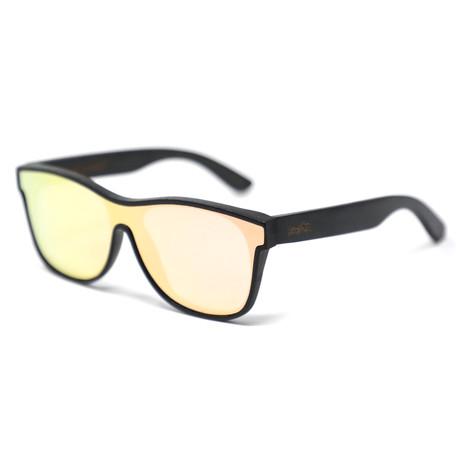 Dozer Polarized Sunglasses // Black + Rose Gold