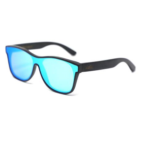 Dozer Polarized Sunglasses // Black + Blue