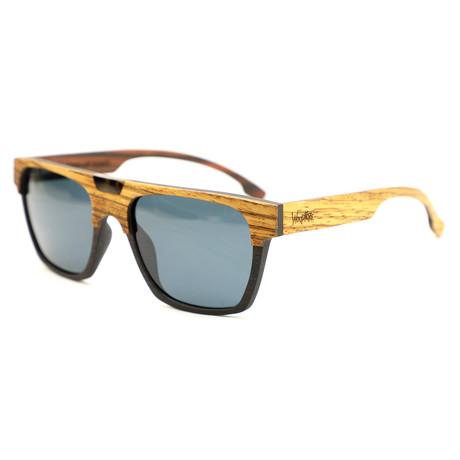 Canal Polarized Sunglasses // Brown + Zebrawood