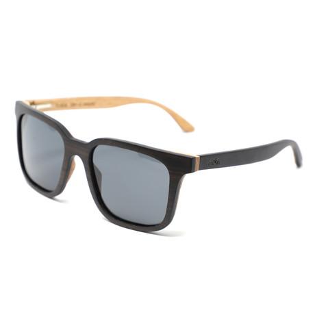 Nixon Polarized Sunglasses // Dark Walnut Brown