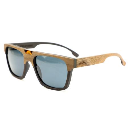 Canal Polarized Sunglasses // Brown + Black Walnut