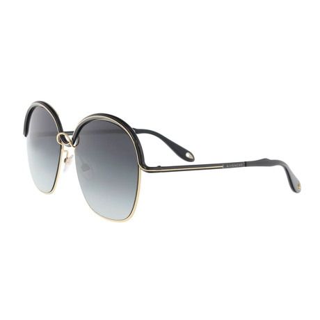 Givenchy // Women's GV7030 Sunglasses // Gold Black + Dark Gray Gradient