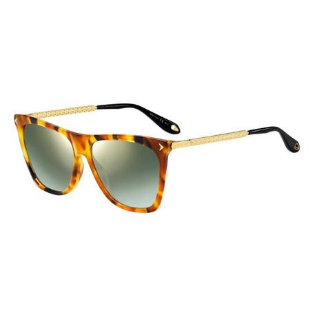 Givenchy // Women's GV7096 Sunglasses // Yellow Red Havana + Gray