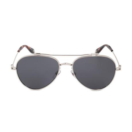 Givenchy // Men's Aviator Polarized Sunglasses // Palladium + Gray