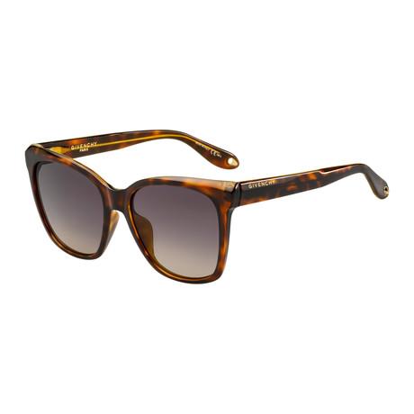 Givenchy // Women's Cat-Eye Sunglasses // Dark Havana + Frey Pink Gradient