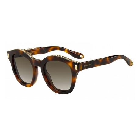 Givenchy // Women's Tortoise Sunglasses // Dark Havana + Brown Gradient