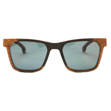 Buffalo Polarized Sunglasses // Black + Red