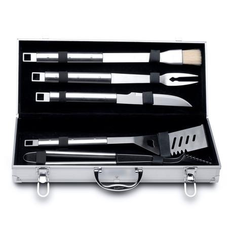 Essentials 6 Piece Stainless Steel BBQ Set + Case // Cubo
