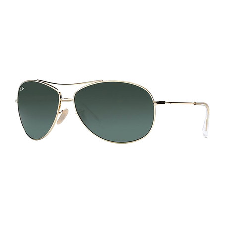 Aviator Sunglasses // Gold + Green