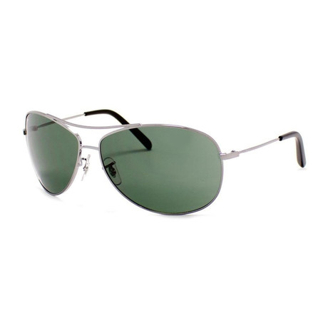 Aviator Sunglasses // Gunmetal + Green Classic
